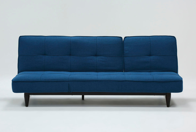 Paige Blue Convertible Sofa Chaise Sleeper - 360