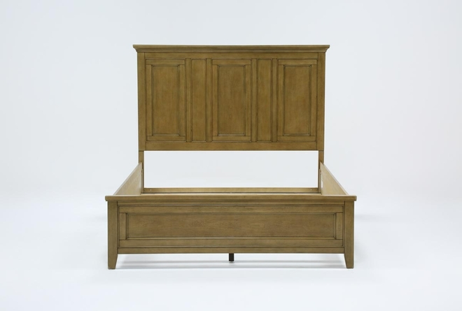 Presby Nutmeg Queen Panel Bed - 360