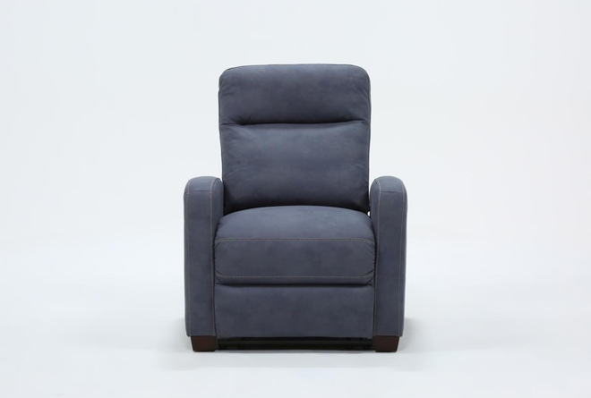 Jarrell Blue Grey Power Recliner With USB - 360