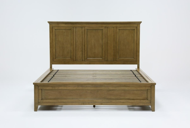 Presby Nutmeg California King Panel Bed With Storage - 360