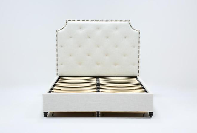 Sophia II Queen Upholstered Panel Bed With Storage - 360