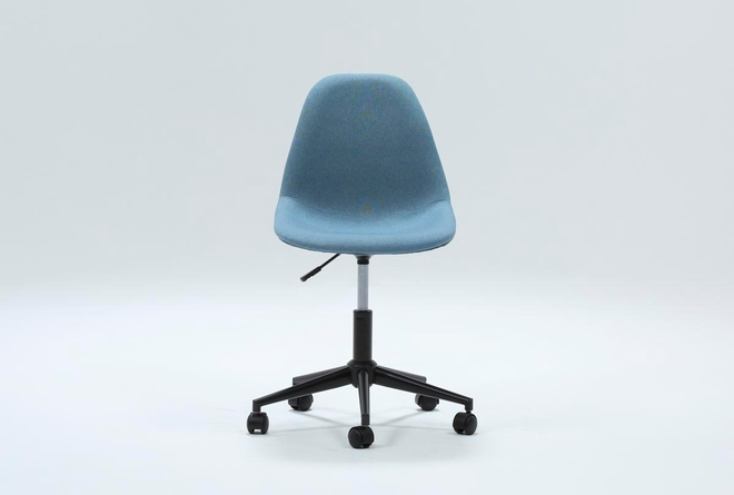Archie Blue Desk Chair - 360