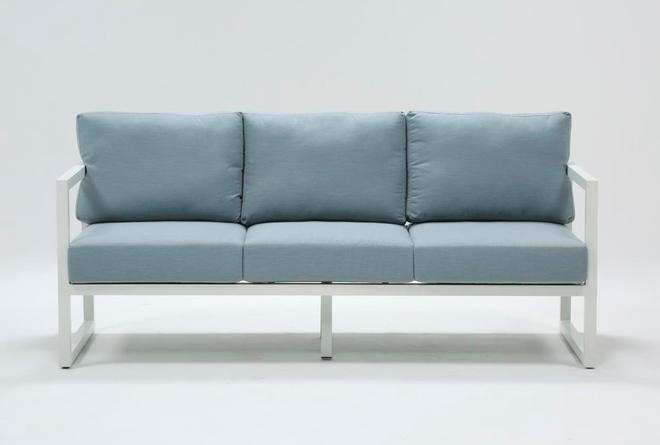 Wilshire Aqua Outdoor Sofa - 360