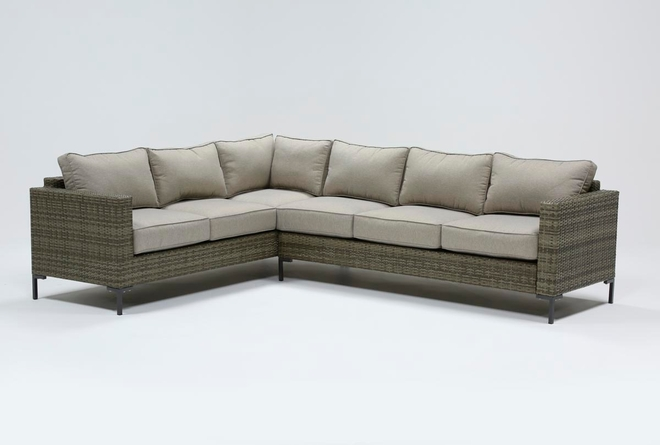 """Hayes Outdoor Banquette 78"""" Sectional - 360"""