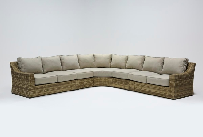 Capri Outdoor 5 Piece Sectional - 360