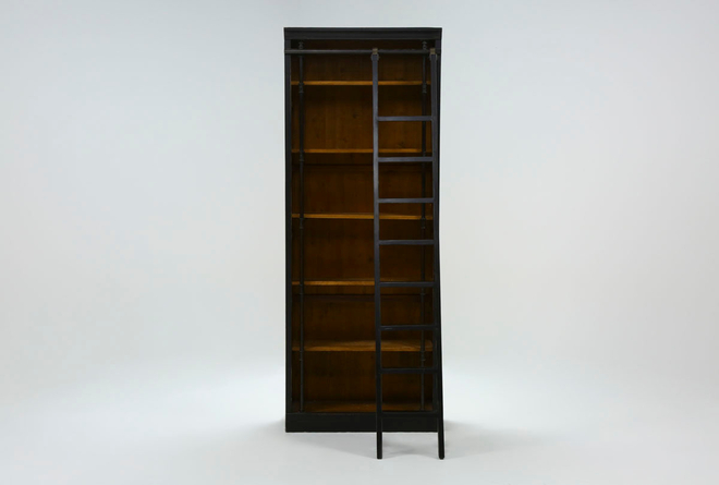 """Barton 103"""" Bookcase With Ladder - 360"""