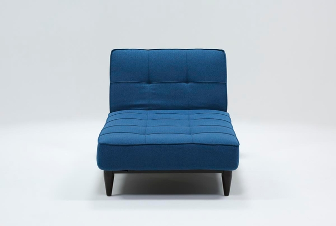 Paige Blue Convertible Chaise Sleeper - 360