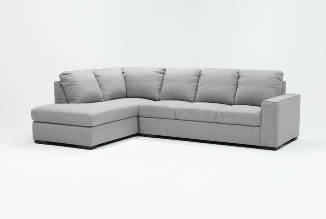 Lucy Grey 2 Piece Sleeper Sectional With Left Arm Facing Chaise - 360