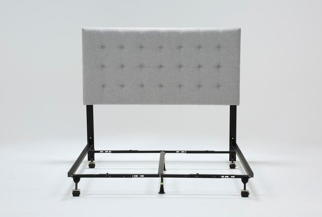 Baxton Queen Upholstered Headboard With Metal Bed Frame - 360