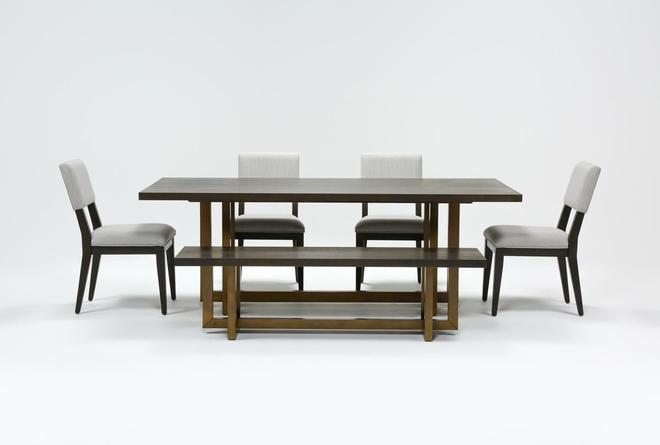 Pierce Espresso 6 Piece Dining Set - 360