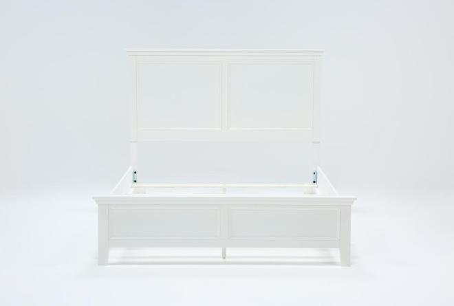 Dawson White Eastern King Panel Bed - 360