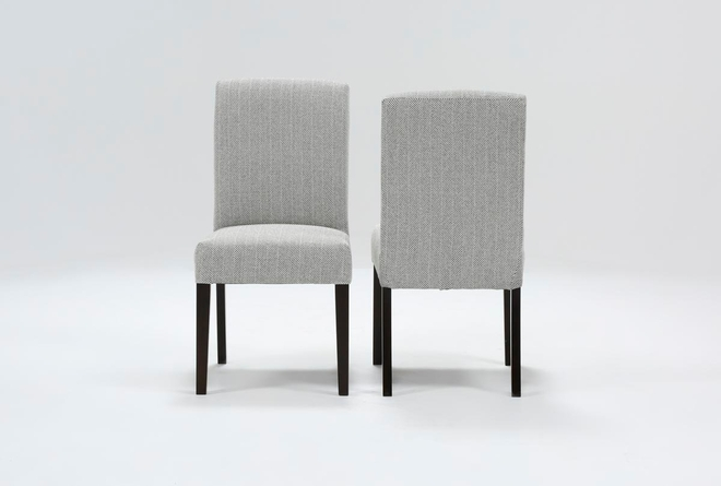 Garten Salt And Pepper Dining Side Chairs With Espresso Finish Set Of 2 - 360