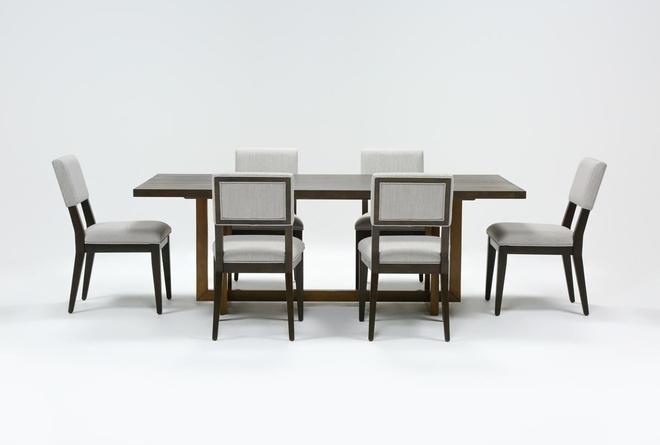 Pierce Black 7 Piece Dining Set - 360