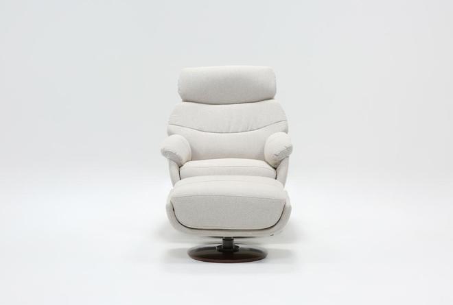 Liddy Swivel Glider Accent Chair & Ottoman - 360
