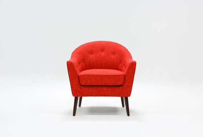 Marina Red Accent Chair - 360