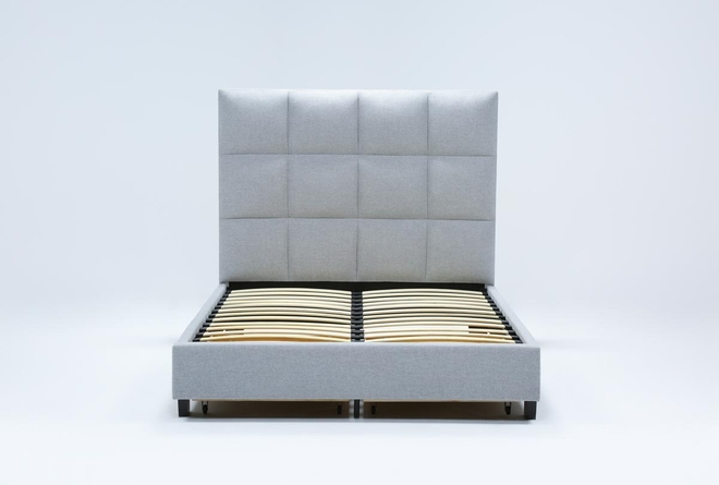 Boswell Queen Upholstered Panel Bed With Storage - 360
