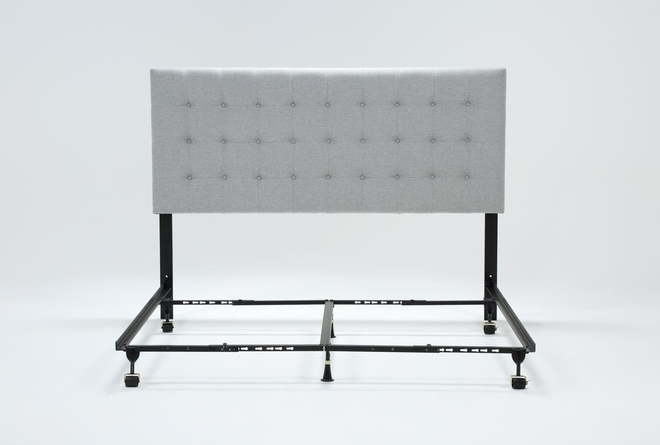 Baxton California King Upholstered Headboard With Metal Bed Frame - 360
