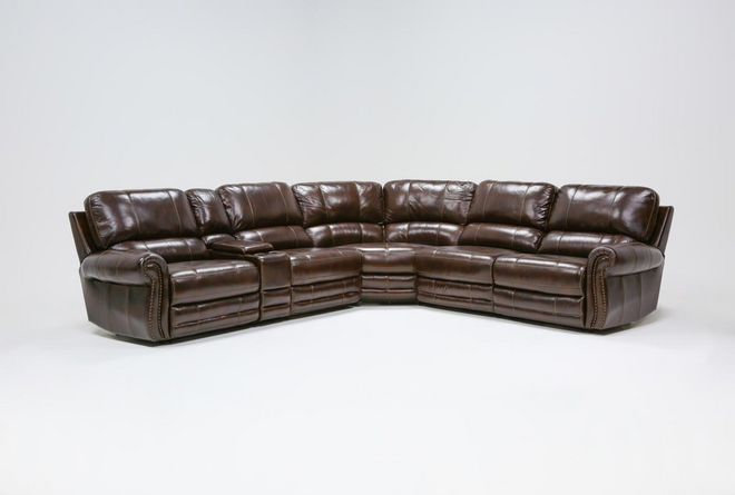 Howell Leather 6 Piece Power Reclining Sectional - 360