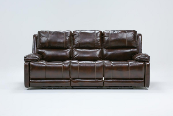 Teodoro Leather Reclining Sofa With Power Headrest - 360
