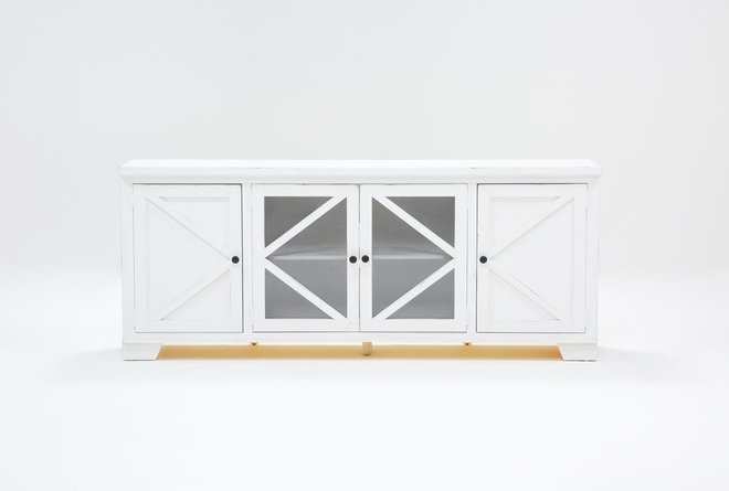 Sinclair II White 78 Inch TV Stand - 360