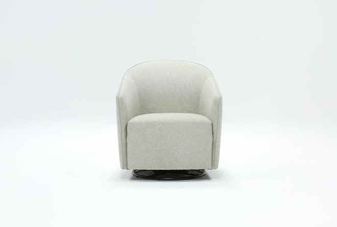 Chanel Grey Swivel Accent Chair - 360
