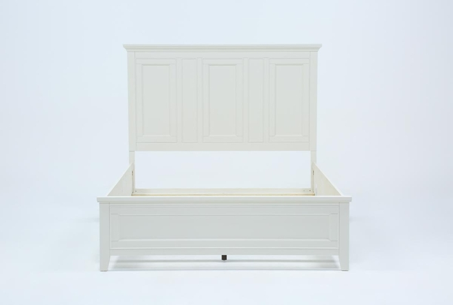 Presby White Queen Panel Bed - 360