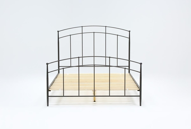 Claire Queen Metal Panel Bed - 360