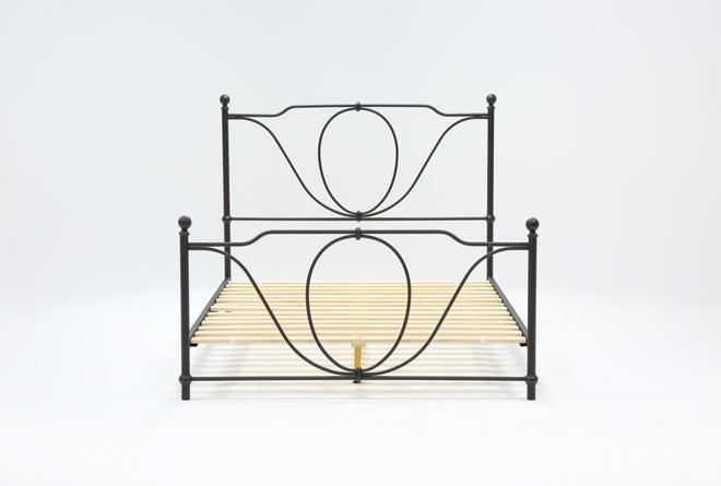 Gracie Queen Metal Panel Bed - 360