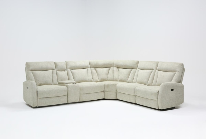 "Halina 6 Piece 124"" Power Reclining Sectional - 360"