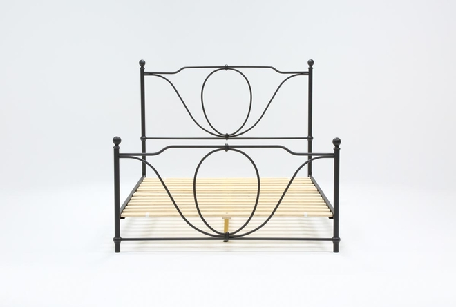 Gracie Eastern King Metal Panel Bed - 360