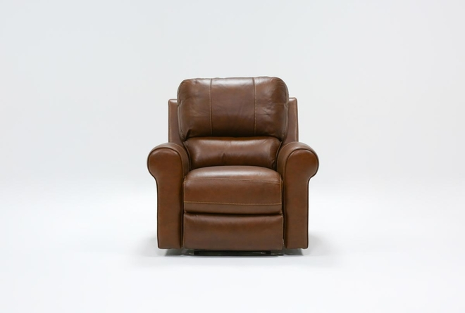 Thorsten Leather Power Recliner With Power Headrest & Usb - 360