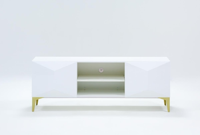 Aria White 60 Inch Tv Stand - 360
