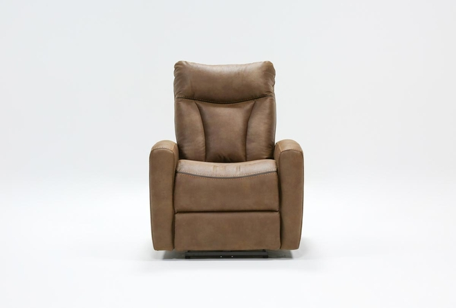 Bronco Chocolate Power Recliner - 360