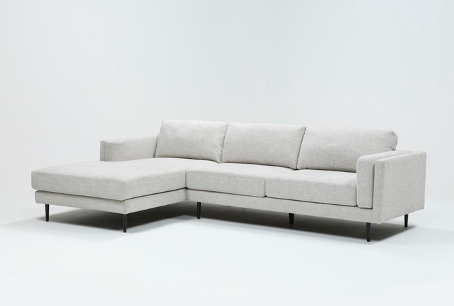 Aquarius II Light Grey 2 Piece Sectional With Left Arm Facing Chaise - 360