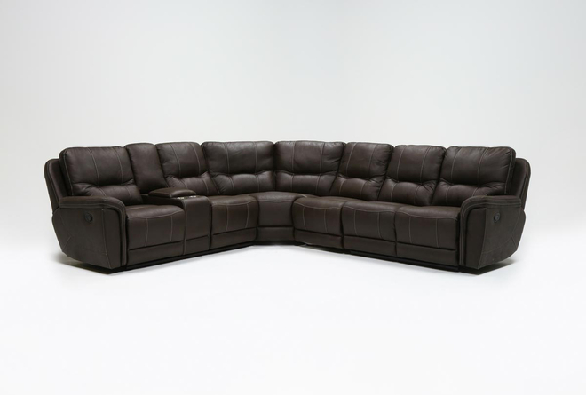 Juniper 4 Piece Reclining Sectional With Left Arm Facing Console Loveseat - 360