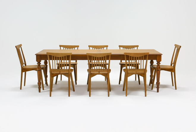Magnolia Home Webster 9 Piece Dining Set With Low & High Back Chairs By Joanna Gaines - 360