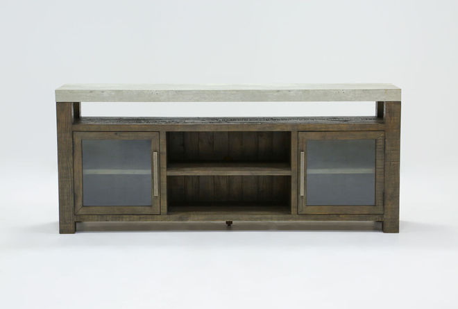 Titan Media Stand 80 Inch With Glass Doors - 360