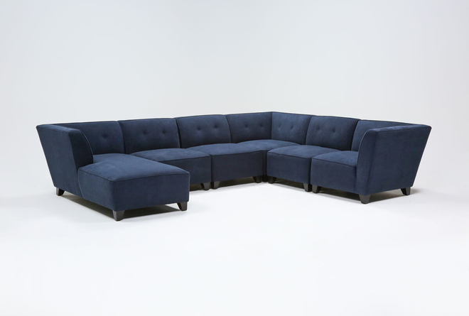 """Benton IV 6 Piece 130"""" Sectional With Left Arm Facing Chaise - 360"""