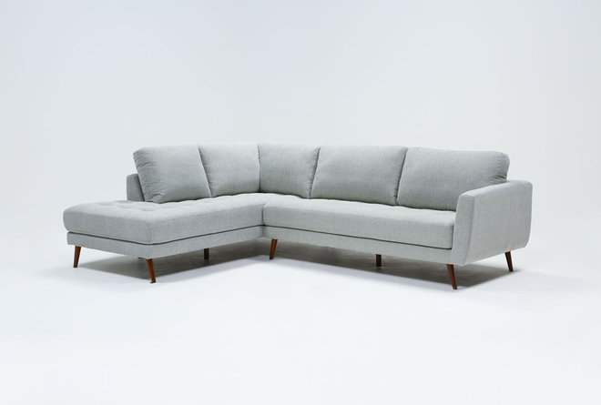 "Ginger Grey 2 Piece 110"" Sectional With Left Arm Facing Chaise - 360"