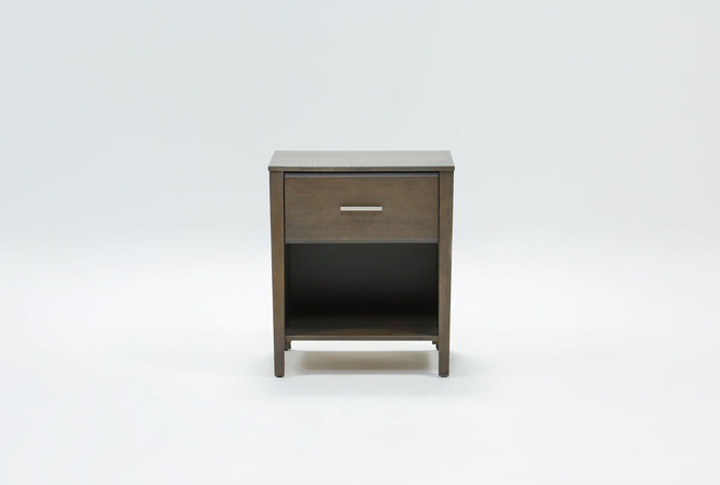 "Gaven Grey 25"" Nightstand - 360"