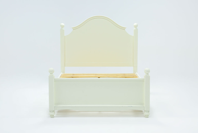 Madison White Full Poster Bed With 2 Side Storage - 360