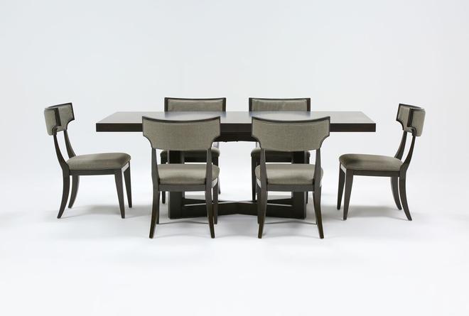Armani 7 Piece Rectangle Extension Dining Set - 360