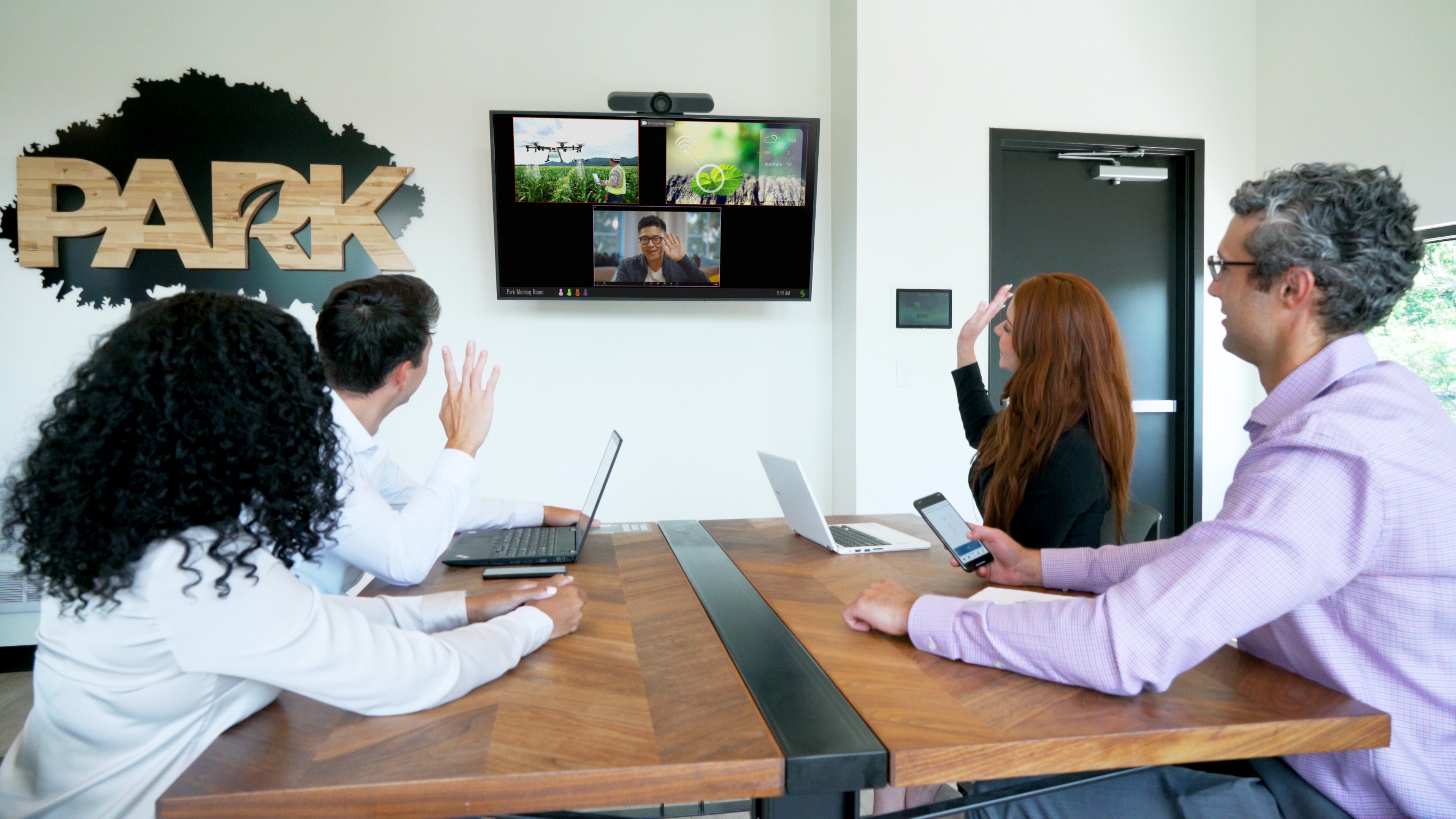 collaboration in conference room
