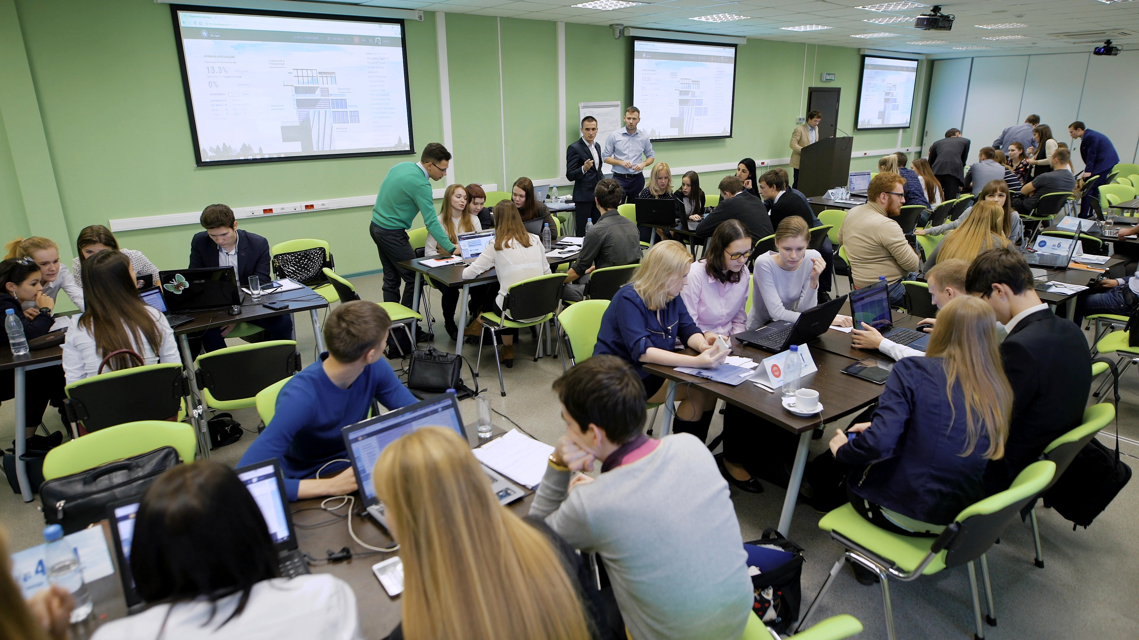 Teacher and Students using active learning in classroom